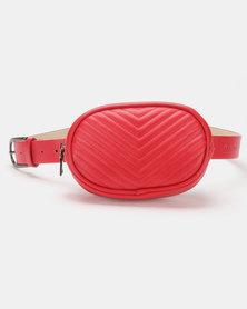 Steve Madden W-Leader Belt Bag Red