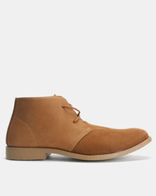Utopia Lace Up Boots Tan
