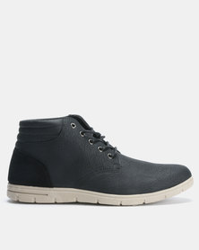 Utopia Casual Lace Up Boots Black