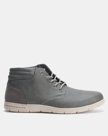 Utopia Casual Lace Up Boots Grey