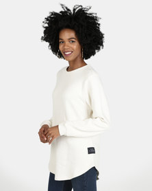 All About Eve Dropout Crew Sweatshirt Cream