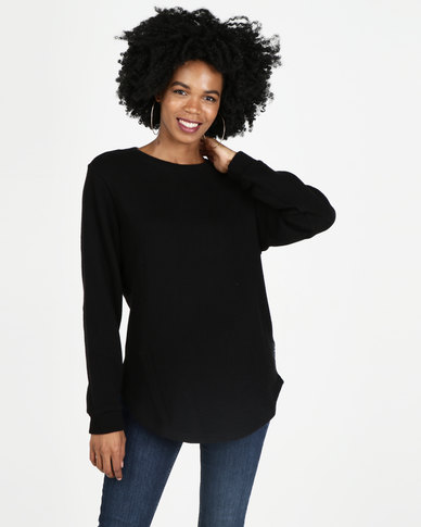 All About Eve Dropout Crew Sweatshirt Black