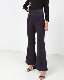 Utopia Cord Wide Leg Pants Navy