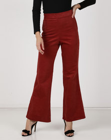 Utopia Cord Wide Leg Pants Terracotta