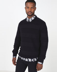 Chester St Pollen Knit Pullover Navy