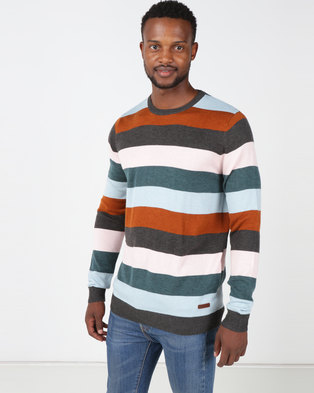 Chester St Boundary Pullover Marled Stripe Knit Multi