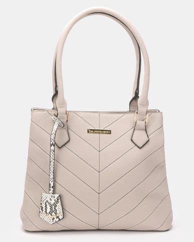 Blackcherry Bag Hereringbone Tweed Stitched Handbag Amarillo Beige