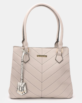 a1c38f8b33 Blackcherry Bag Hereringbone Tweed Stitched Handbag Amarillo Beige