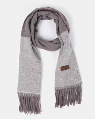 Blackcherry Bag Simple Scarf Grey