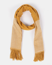 Blackcherry Bag Check Scarf Mustard
