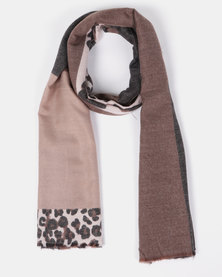 Blackcherry Bag Animal Print Scarf Brown