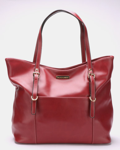Blackcherry Bag Fierce Tote Bag Ox Blood Red
