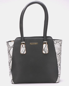 Blackcherry Bag Slither Tote Bag Black