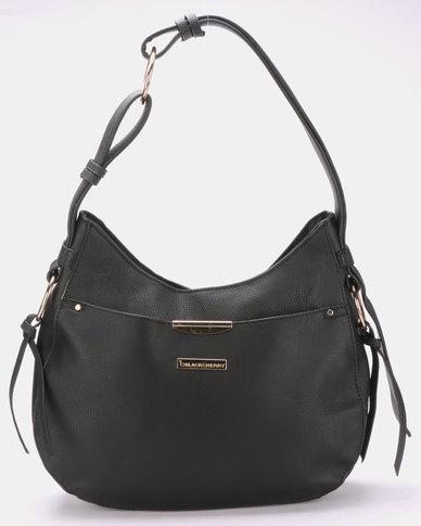 Blackcherry Bag Slouchy Shoulder Bag Black
