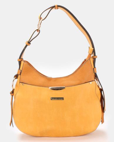 Blackcherry Bag Slouchy Shoulder Bag Mustard