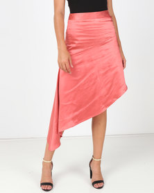 All About Eve Coco Asymmetrical Skirt Pink