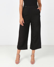 All About Eve Brazen Linen Culotte Black