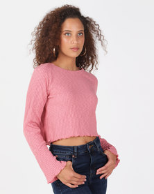 All About Eve Brinkley Raglan Long Sleee Tee Mauve