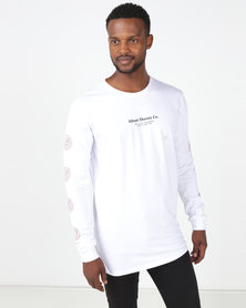 Silent Theory Low Long Sleeve Tee White