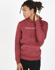 Silent Theory Places Hoodie Burgundy
