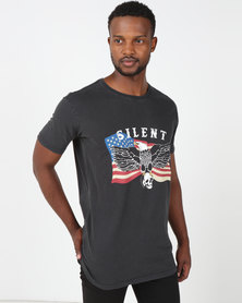 Silent Theory Eagle Tee Washed Black