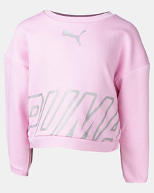 Puma Sportstyle Core Alpha Crew Sweater Pale Pink