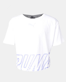 Puma Sportstyle Core Alpha Logo Tee White