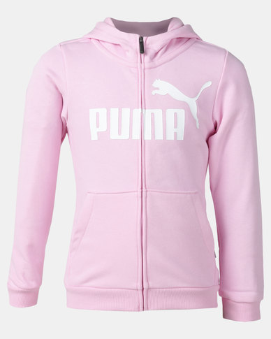 Puma Sportstyle Core ESS Hooded Jacket Pale Pink