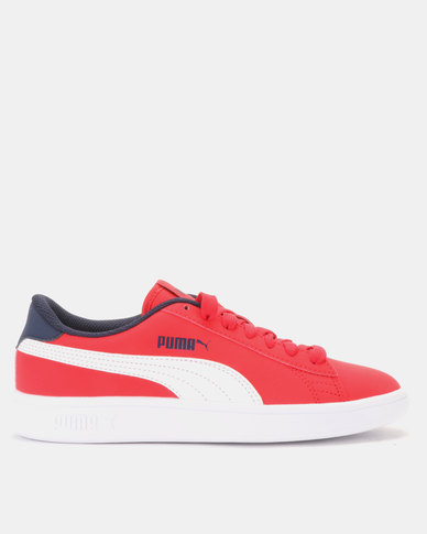 0dbf46727d15f Puma Red Puma Smash v2 Buck Sneaker Grey