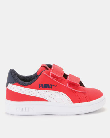Puma Red Smash v2 Buck Sneaker Red