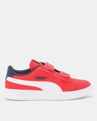 43e397f146b0 Puma Smash v2 Buck V PS Sneakers Red