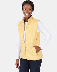 Cath.Nic Triangle Design Sleeveless Puffer Gilet Mustard