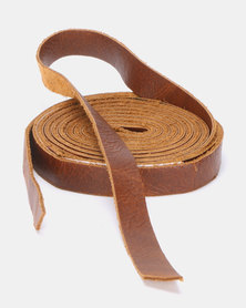 non-european® Skinny Wrap Belt Soft Brown
