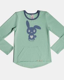 Eco-Punk Sweatshirt Bunny MINT