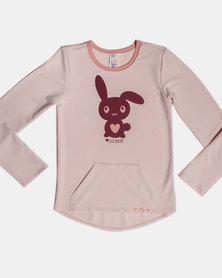 Eco-Punk Sweatshirt Bunny PINK