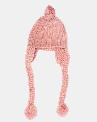 8e77bacb9c52e Utopia Kids Ear Flap Pom Pom Beanie Pink