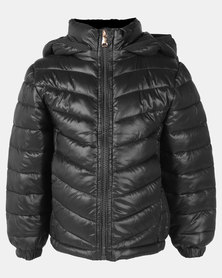 Utopia Kids Puffer Jacket Black