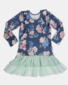 Eco-Punk Dress Roses NAVY