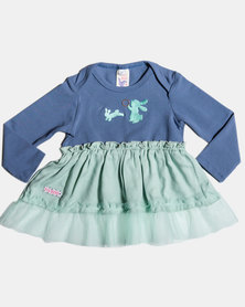 Eco-Punk Baby Dress Bunnies MINT