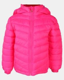 Utopia Toddler Girls Puffer Jacket Pink
