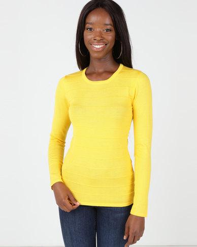 Queenspark Ottoman Core Knitwear Jersey Yellow