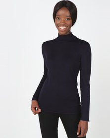 Queenspark Core Turtleneck Jersey Navy