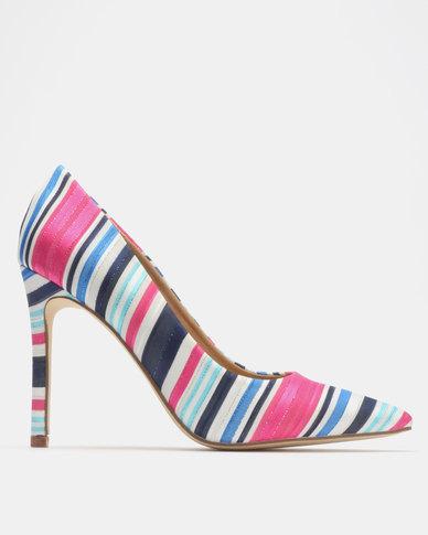 Madison Katinka Courts Pink Multi Stripe