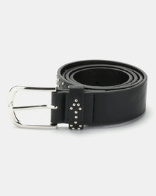 Queenspark Chevron Trim Belt Black