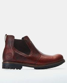 Bronx Men Sasso Boots Red Brown