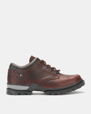 Bronx Men Trap Suede Laces Shoes Red/Brown