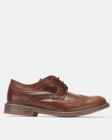 Bronx Men Carvano Lace Ups Chestnut