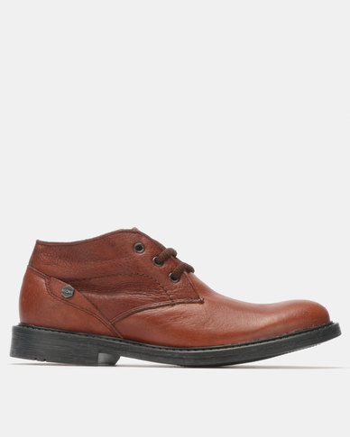 Bronx Men Jump Lace Up Boots Rust