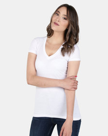 Nucleus V Neck T White