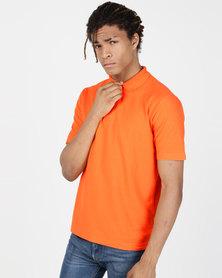Tee & Cotton Classic Pique Knit Polo Orange